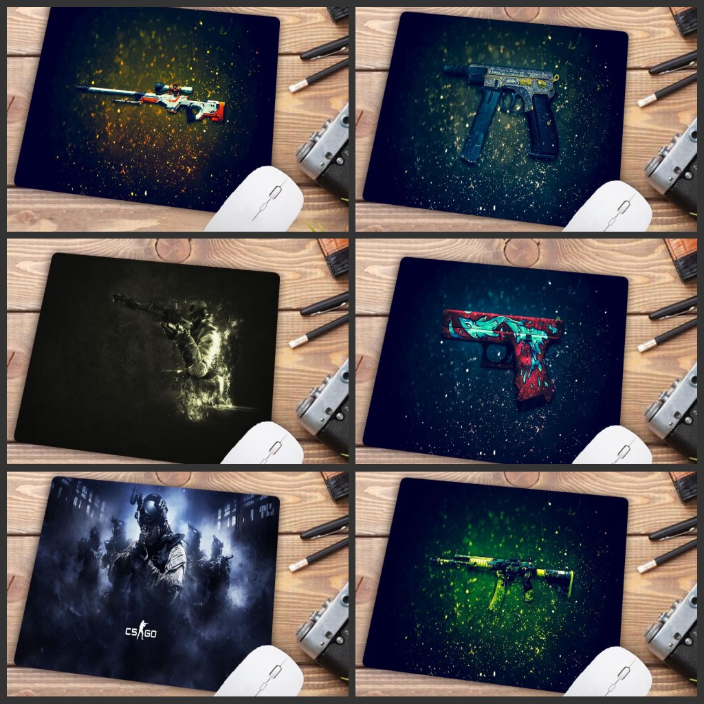 Mairuige Big Promotion CS GO Gaming Keyboard Mouse Pad Mat Small Size  Mousepad For PC Computer Notebook Mouse Gaming 18X22CM