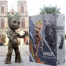 Hot Toys Marvel Groot Guardians of The Galaxy Avengers 1:1 Cute Baby Tree Man BJD Joints Moveable Action Figure Toys 26cm marvel galaxy guard 2 groot small tree baby bluetooth audio s box model hand office w07