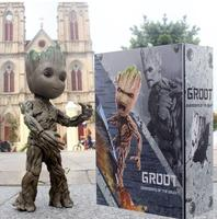 Hot Toys Marvel Groot Guardians of The Galaxy Avengers 1:1 Cute Baby Tree Man BJD Joints Moveable Action Figure Toys 26cm