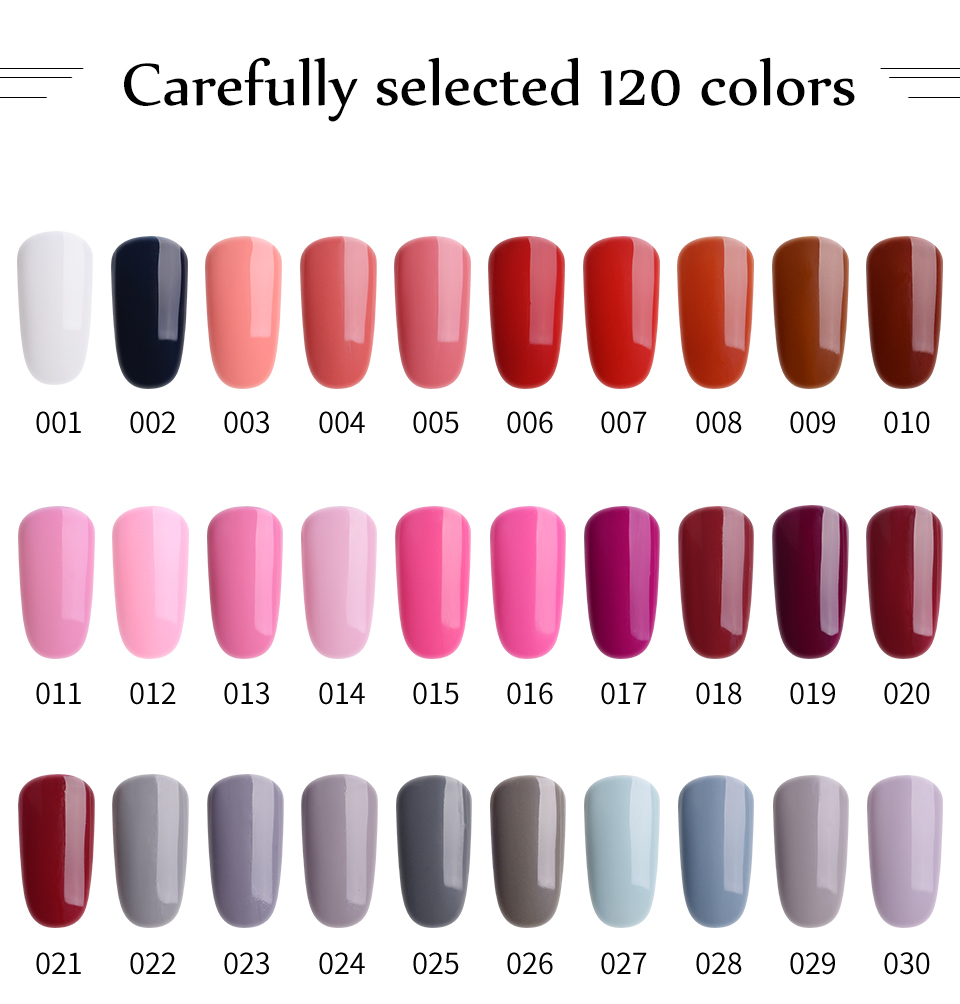 RS Nail One Step uv color Gel Nail Polish 3 in 1 gel 120 colors 061 120 Long Lasting Gel Varnish UV No Need Base And Top 8ml in Nail Gel from Beauty Health