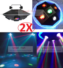 2XLot Free Shipping 2019 UFO Led Stage Effect Light 94W RGBWY Colors IEC In/Out Powercon Led Spider Moving Head DJ Disco Lights