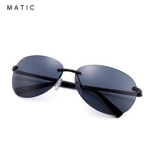 Image 3 - MATIC נהג חום מקוטב ללא שפה תעופה משקפי שמש לגברים נהיגה טייס בציר רטרו סגלגל זכר שמש משקפיים uv400 יוניסקס