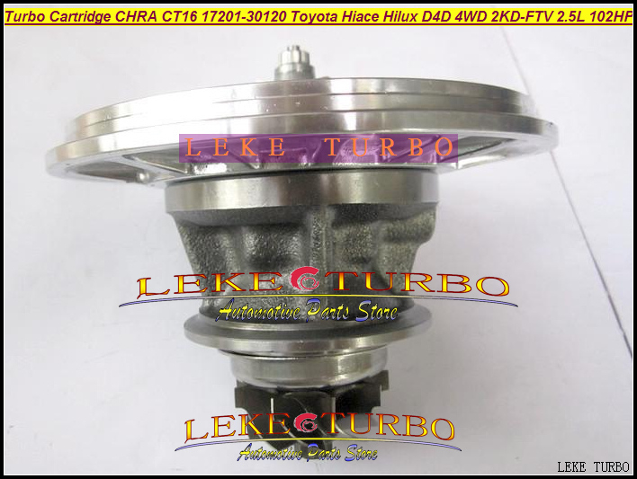Turbo Cartridge CHRA Core CT16 17201-30120 Oil Turbocharger For TOYOTA Hiace Hilux Hi-lux D4D 4WD 2KD-FTV 2KD 2KDFTV 2.5L 102HP turbo cartridge chra core gt1749v 17201 27040 721164 for toyota rav4 d4d avensis picnic previa estima 1cd ftv 2 0l turbocharger