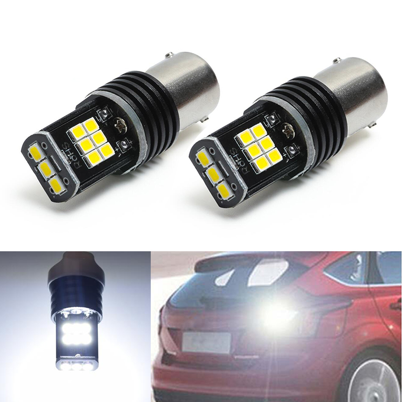 2x 1156 P21W Canbus No Error Car LED <font><b>Rear</b></font> Reversing Tail <font><b>Light</b></font> Bulb For <font><b>Volvo</b></font> v50 v60 v70 xc90 xc60 <font><b>s80</b></font> s40 c30 image