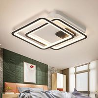 New Arrival Black and White LED Chandelier For Living Study Room Bedroom Square Aluminum Modern Led Ceiling Chandelier