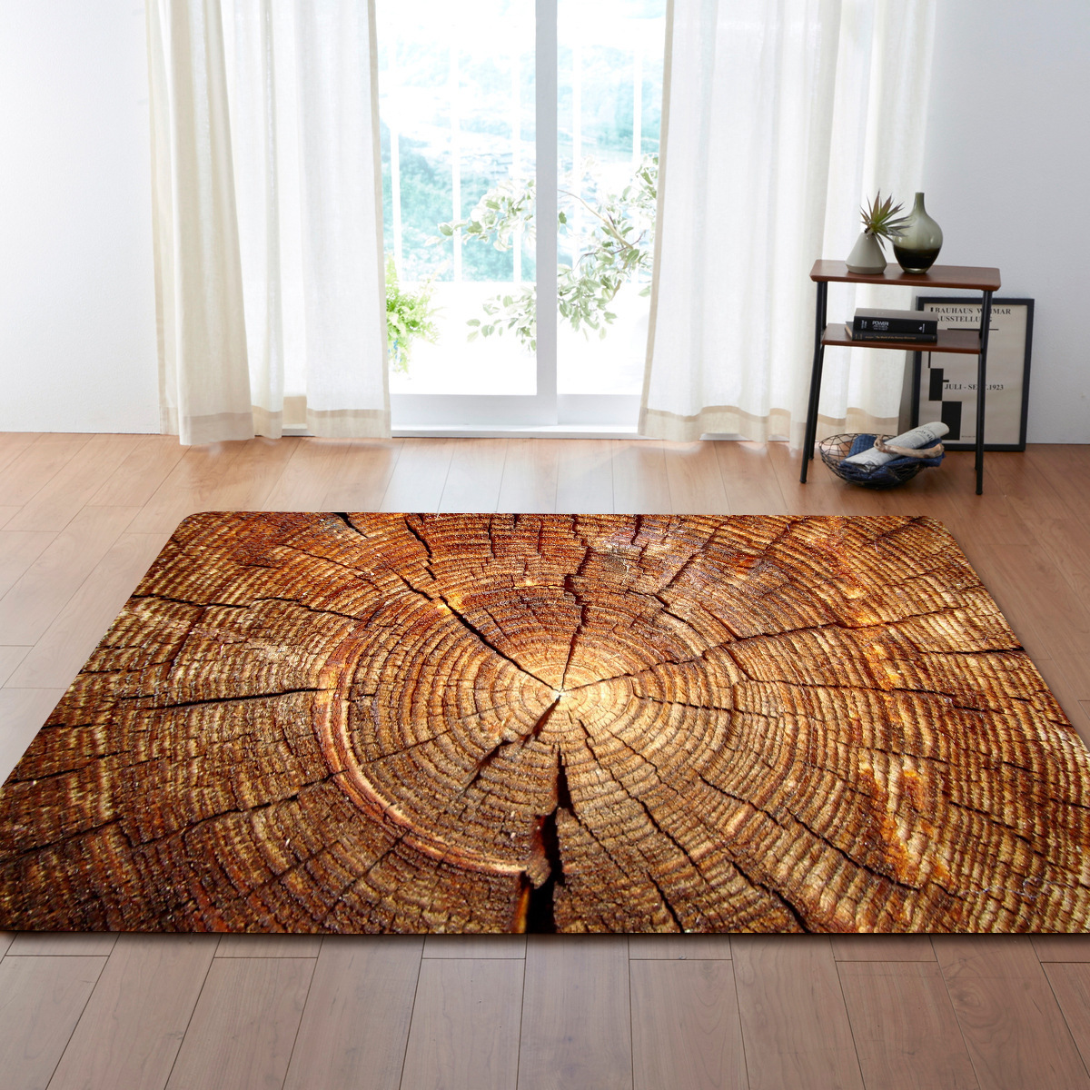 DeMissir 3D Dry Wooden Pattern Print Large Carpet For Living Room Bedroom Pad Children Pay Mat tapetes rug tapis tapete criativo