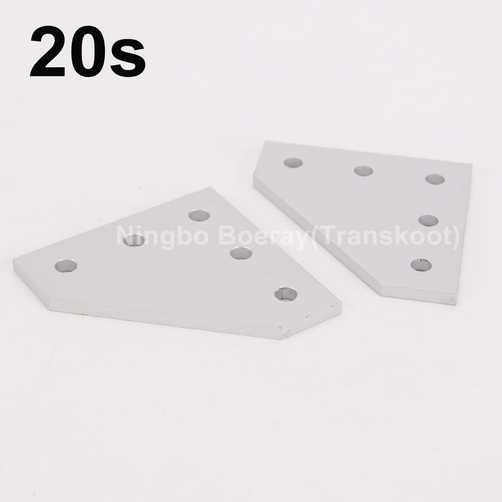 5 Hole 90 Degree Joint Board Plate Corner Angle Bracket Connection Joint Strip for Aluminum Profile 2020 20x20 with 5 holes aluminum profile aluminum strip for ceiling film install