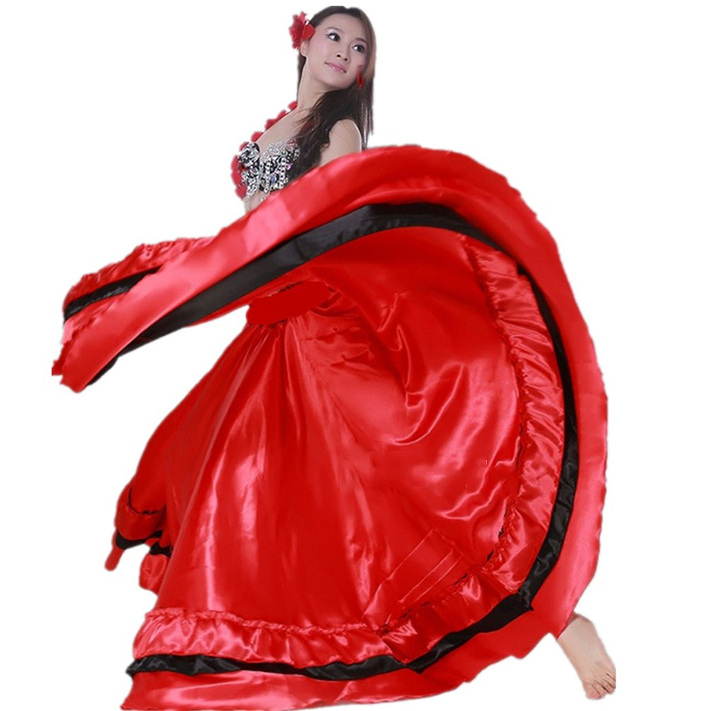 New Flamenco Skirt For Women Spanish Flamenco Dress Latin Salsa Flamenco Ballroom/Belly Dancing Dress One Pieces Skirt DL2880