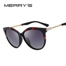 Merry's Для женщин классические Поляризованные Солнцезащитные очки Роскошные Защита от солнца Очки со стразами и металлической храм 100% УФ-защитой s'6218