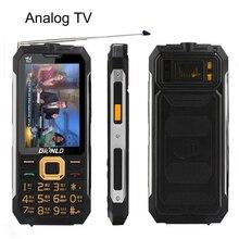 Mafam D99 Мощность банк мобильный телефон длительным временем ожидания открытый аналоговый ТВ 3,0 »большой Дисплей Dual SIM карты Bluetooth устойчивые мобильные телефоны