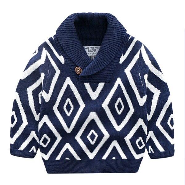 Детские свитера, свитер с высоким воротом для мальчиков, модный толстый хлопковый свитер