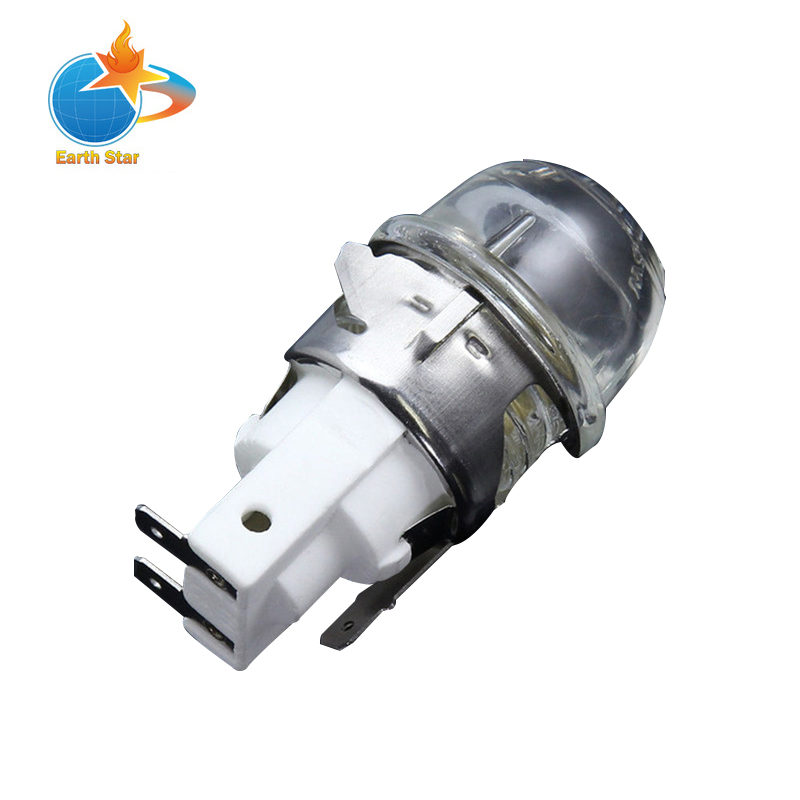 E14 2501 Oven Lamp Holder Oven Head High Temperature of 300 Degrees Oven Cover With 15W Light Bulbs high tmperature 300 degree t25 oven cooker light bulbs 240v ses e14 home kitchen