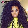 7A 250% Densidade Malásia Virgem Cabelo Profunda Curly Lace Frontal Humano cabelo Peruca Cheia Do Laço Sem Cola Perucas de Cabelo Humano Para As Mulheres Negras