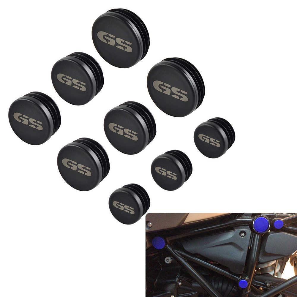 9 CHIẾC Xe Máy Khung Lỗ Bao Mũ Cắm Trang Trí Cho XE BMW R1200GS R1200 GS Phiêu Lưu năm 2017 2018 R 1200 GS R 1200GS ADV
