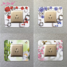 JIA-GUI LUO  Acrylic Switch Panel Sticker Protection Cover Pattern Style Socket Decoration Bedroom L015
