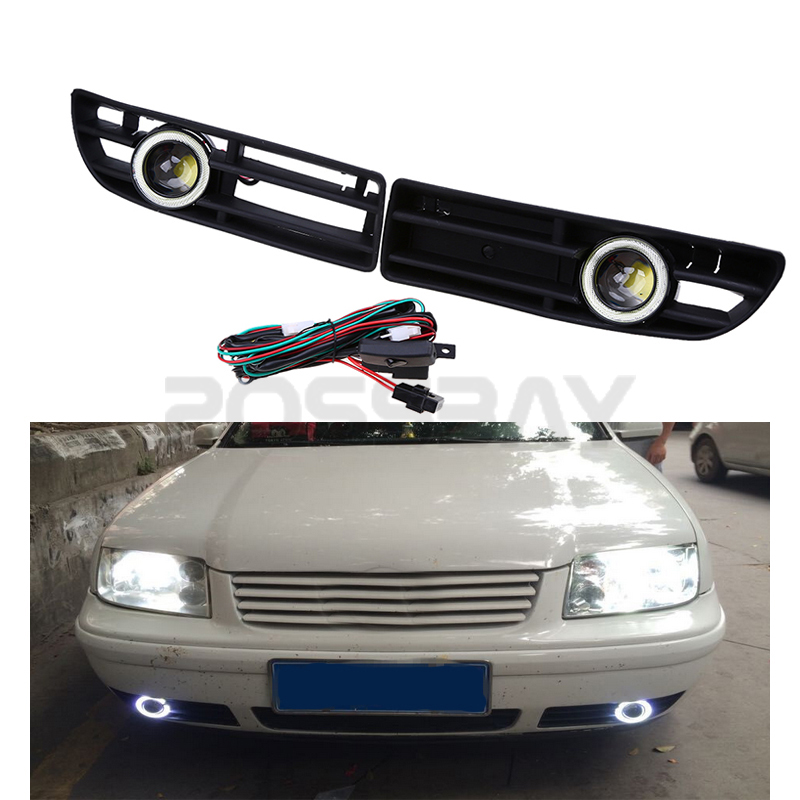 For Volkswagen BORA MK4 A4 Typ 1J Kit Wire Harness Switch LED Angel Eye Fog Lights aliexpress com buy for volkswagen bora mk4 a4 typ 1j kit wire Car Blinker Lights at fashall.co