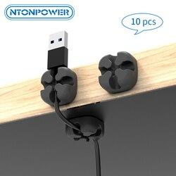 NTONPOWER 10 stücke Kabel Organizer Wire Winder Halter Clip Weiche Silikon Kabel Wickler Für Kopfhörer Maus Kabel Protector Management