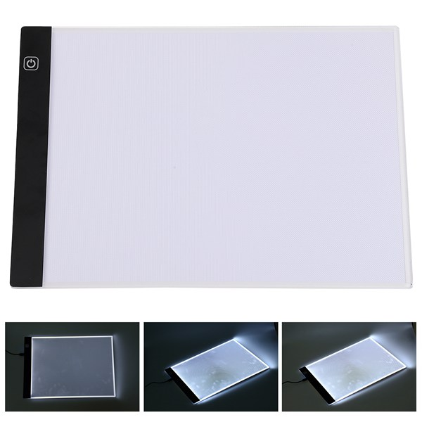 Clipboard A4 Led Stencil Board Light Box Artist Tracing Drawing Copy Plate Table Gift