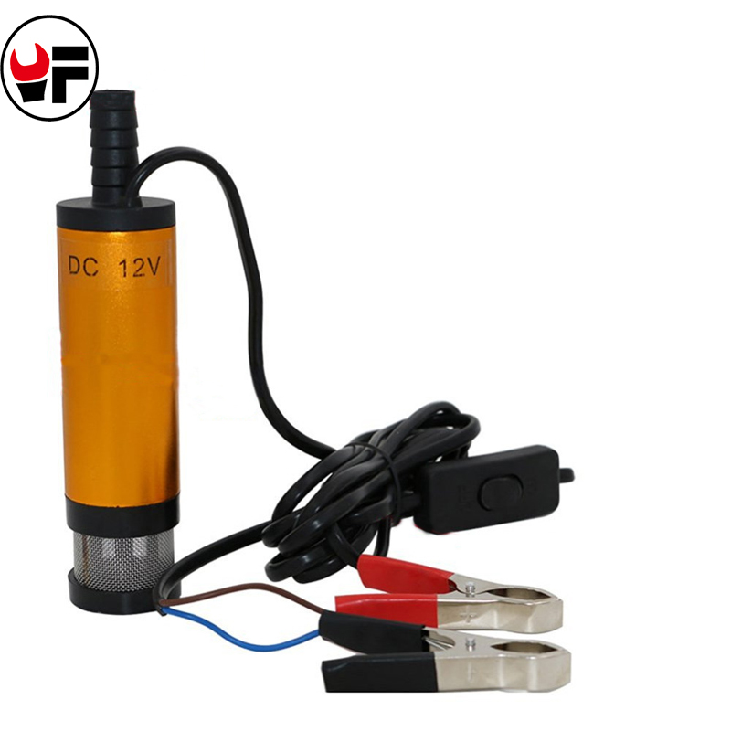 12V Car Electric Submersible Pump Diesel Fuel Water Oil Transfer Submersible Pump with On/Off Switch Oil Engine Transfer DN172 new 12v dc diesel fuel water oil car camping fishing submersible transfer pump power tool accessories color random