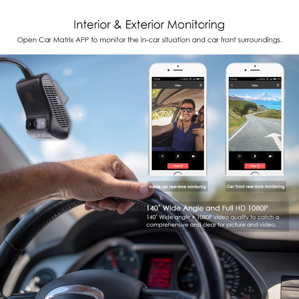 Kongnijiwa 7 HD de Pantalla t/áctil Android con Doble Objetivo WiFi Bluetooth del Coche DVR de navegaci/ón GPS Registrador con la c/ámara del rev/és
