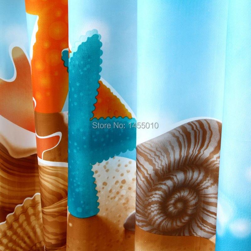 Вероника Цветочный душ Шторы, плесени устойчивы полиэстер Ткань в полоску для Ванная комната, принт, цветок Водонепроницаемый душ Шторы - 6