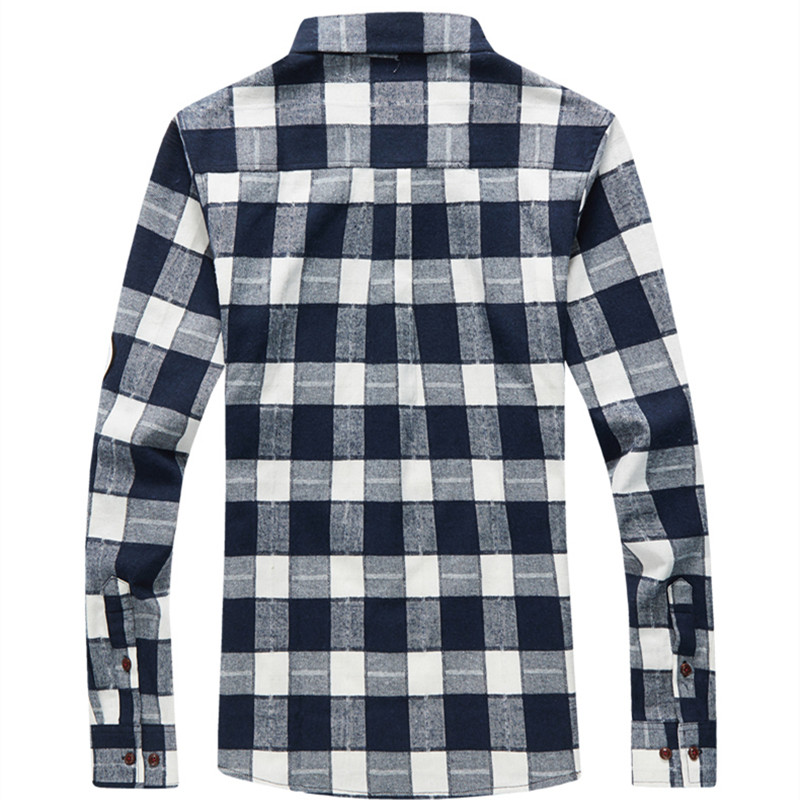 XMY3DWX products sell like hot cakes men long sleeve shirt men grid thin body hair fashion Grinding MAO casual shirt/size S-4XL 46