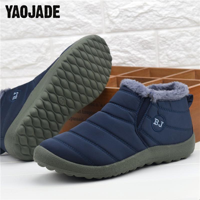 Color 44 Esquí brown Zapatos Black brown 1 2017 Inferior Sólido Nuevos 35 Impermeables 2 2 rojo Otoño Botas Hombres Antideslizante De Mantener Nieve Interior black Invierno Calientes azul 1 Tamaño Algodón wqwpR
