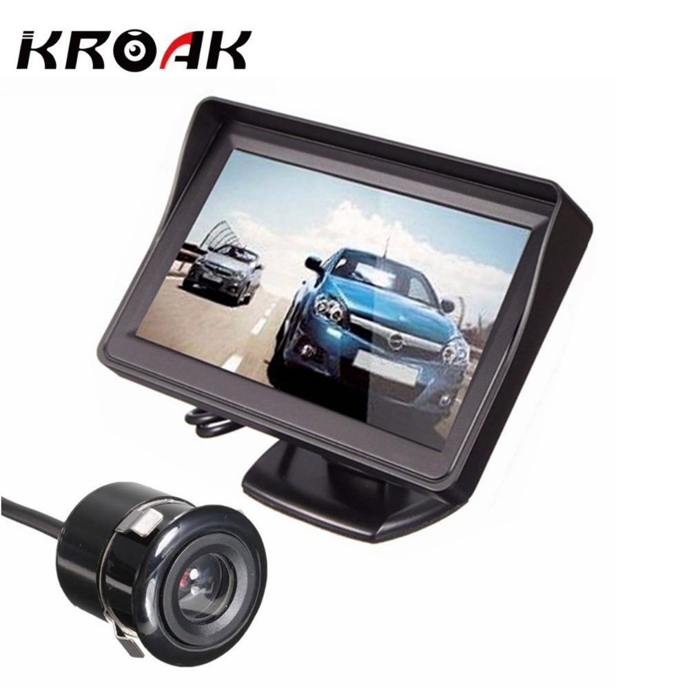 TFT LCD Car Monitor DVD Radar Detector Rearview Mirror Waterproof Rear View Backup Camera Parking Reverse Sensor System Assistan