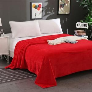 Image 3 - סופר רך חם מוצק חם מיקרו קטיפה שמיכת צמר שטיח ספה מצעים כפול כיסוי המיטה שמיכות למיטה מכסה