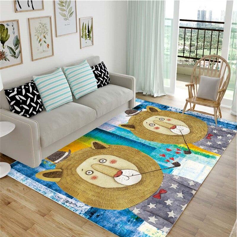 Tapis mignons de jeu d'enfant de bande dessinée pour des petits tapis de chambre à coucher de salon