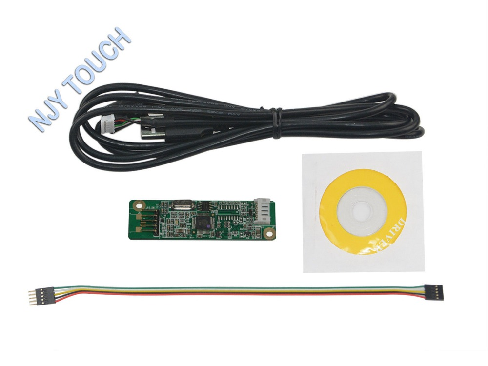 Free Shipping 5 Wire Resistive Touch Screen Panel USB Controller Driver Card Kit Import Chip