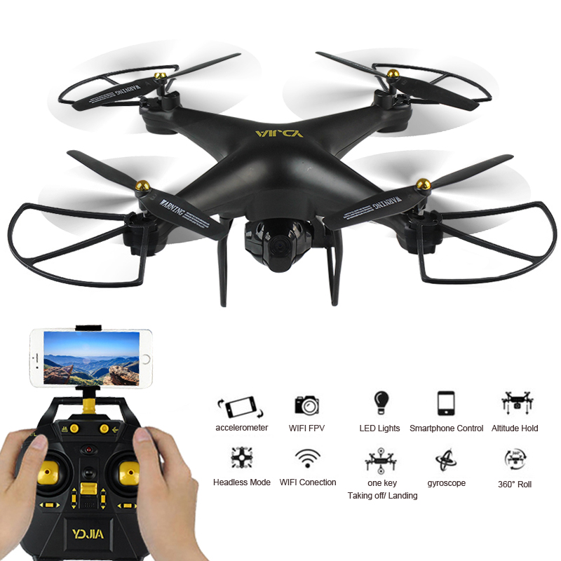 D68 WIFI FPV Camera Drone with Altitude Hold Headless Mode Quadcopter Drone RC Helicopter VS JJRC X5SW X5HC jjrc h50ch 2 4 axis rc drone quadcopter uav altitude hold headless mode with 200w fpv camera spare parts f20672