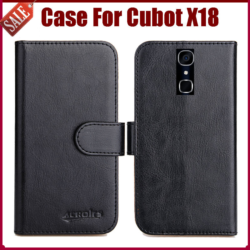 Hot Sale! Cubot X18 Case New Arrival 6 Colors High Quality Flip Leather Protective Cover For Cubot X18 Case Phone Bag