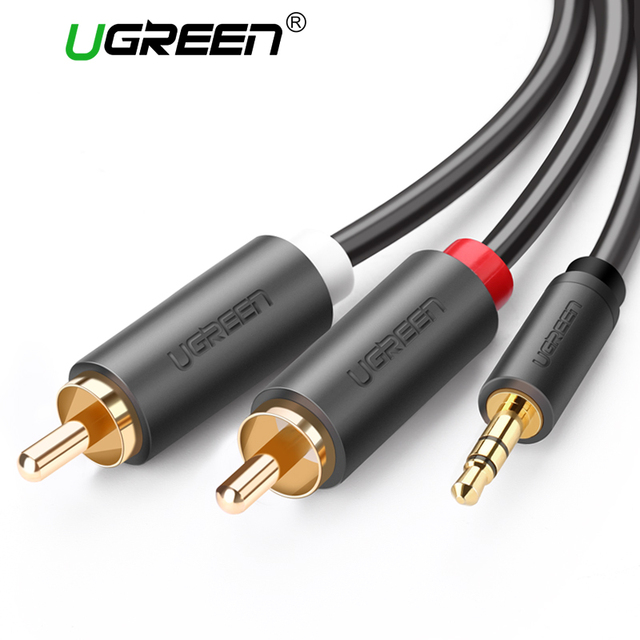 Ugreen RCA 3.5mm jack Cable 2 RCA Male to 3.5 mm Male Audio Cable 1M ...