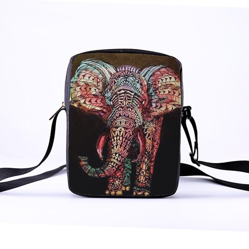 CROWDALE wholesale Women Messenger Bags 3D-Printing Photo Shoulder Bag Handbags Cute elephant photo Children Crossbody bag african elephant