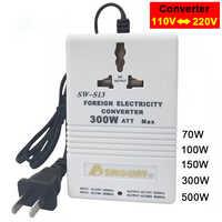 Transformateur adaptateur de voyage interrupteur nouveau chargeur professionnel convertir 220V à 110V monter/descendre double tension 110 à 220 convertisseur
