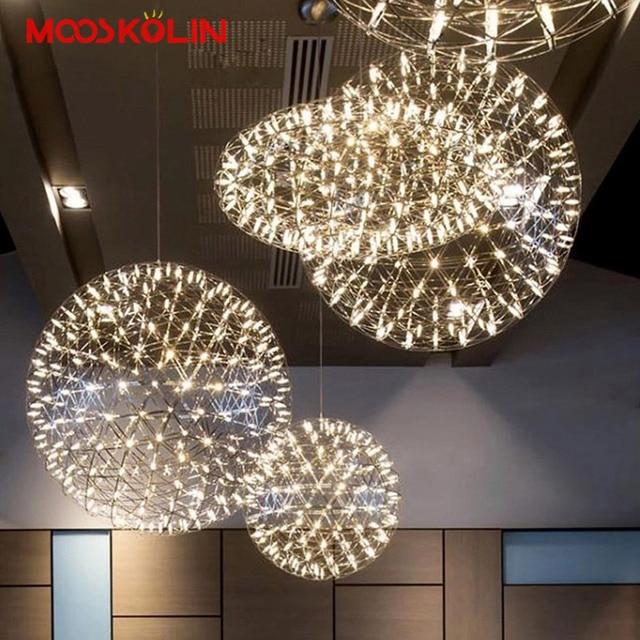 Postmodern Led Ball Chandelier Creative Spark Artistic Personality Living Room Restaurant Stairs Hotel Lobby Firework Hang