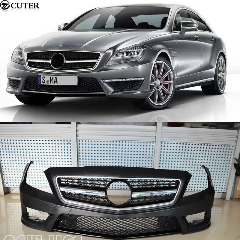 W218 CLS AMG Style Car Body Kit PU Unpainted Front Bumper