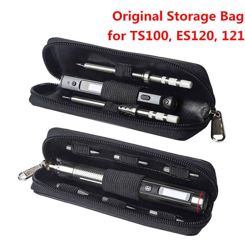 Original Portable Storage Bag For MINI TS100 Soldering Iron ES120 ES121 Electric Screwdriver Carry Case Waterproof