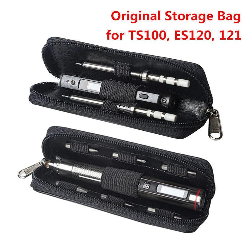 Original Portable Storage Bag For MINI TS100 Soldering Iron ES120 ES121 Electric Screwdriver Carry Case Waterproof