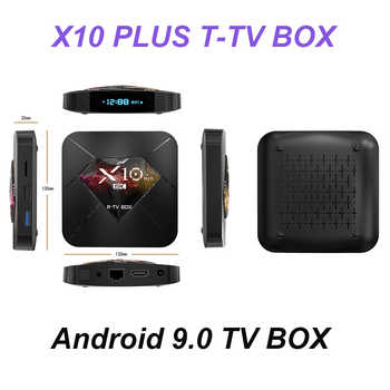 R-TV BOX X10 Plus Android 9.0 Smart TV Box Allwinner H6 2.4G WiFi 4GB RAM 32GB/64GB ROM Set Top Box USB3.0 H.265 6K Media Player