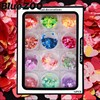 12 Box Set Multicolor Nail Art Paillette Inkjet Pearly Heart Shaped Ultra Thin Sequin Nail Decorations