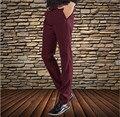 De gama alta 2017 Nueva Moda Straight Casual de Negocios Pantalones de Los Hombres de Alta Calidad Diseñador Otoño Elegante Masculina de Ocio Pantalones Largos