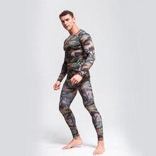 2019 New Hot Men's Army Green Camouflage Sportswear Running Suit Compressed Sports Underwear MMA Rashguard Jiu jitsu Fitness UFC футболка мужская affliction 331254899788 ufc mma