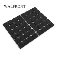 48Pcs Black Table rubber pads Non-slip Self Adhesive Furniture Sofa Table Chair Rubber Feet Pads to Protect Tables Leg(China)