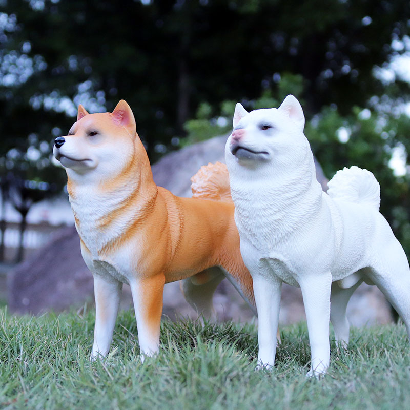 Image 4 - Oenux New Big Dog Animal Simulation Bull Terrier Rottweiler Corgi Shiba Inu Bully Dog Action Figures Pvc Lovely Pet Model Toys-in Action & Toy Figures from Toys & Hobbies