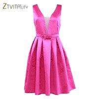 ZTVitality Newest 2017 Fashion Summer Vestidos Sleeveless A Line Elegant Party Dresses Women Dress Sexy Slim