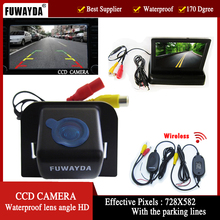 FUWAYDA Wireless CCD Car Rear View Camera for Toyota Prius 06-10/ Camry 09 10/ Aurion 06-11 4.3 Inch foldable LCD TFT Monitor HD