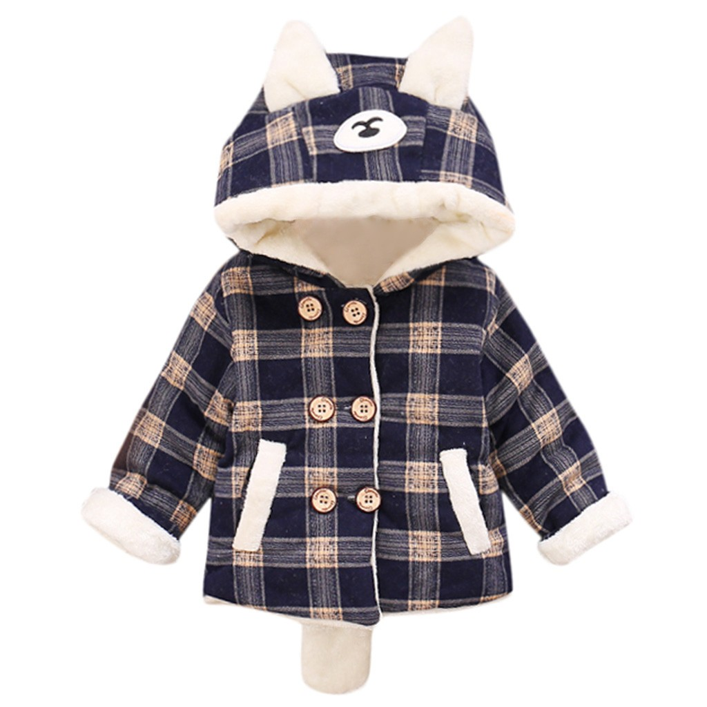 Baby Kids Boy Girl Coat Winter Long Sleeves Keep Warm Cartoon Ear Villus Vestido Manteau Fille Casaco Menina Lasten Takki C3 Let Our Commodities Go To The World
