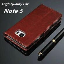Azns Note5 luksusowy portfel etui do Samsung Galaxy Note 5 N9200 etui z klapką skórzane etui na telefon z miejscem na karty uchwyt kabura obudowa na telefon